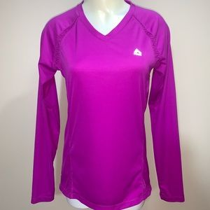 Bright pink RBX long sleeve athletic tee